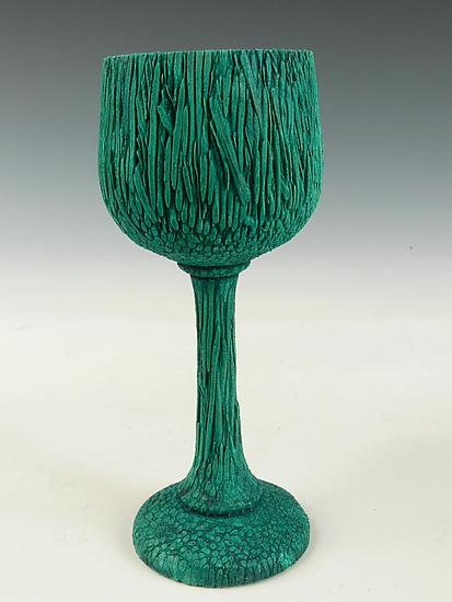 Green Palm Wood Goblet