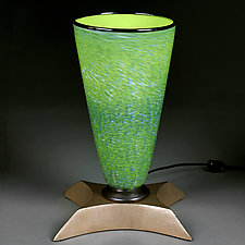 Zelenyy i Zolotoy (Green & Gold) by Eric Bladholm (Art Glass Table Lamp)