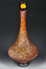 Litnya Vyshnya (Summer Cherries) by Eric Bladholm (Art Glass Vessel)