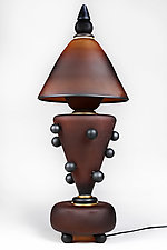 Shokoladne Svitlo (Chocolate Lamp) by Eric Bladholm (Art Glass Table Lamp)