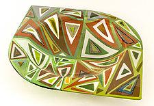 Green Intensity Bowl by Renato Foti (Art Glass Bowl)