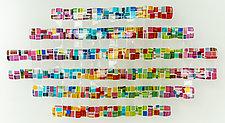 Oval Retro Mesh in Jewel Tones by Renato Foti (Art Glass Wall Sculpture)