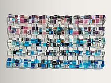 Retro Mesh Ultra by Renato Foti (Art Glass Wall Sculpture)