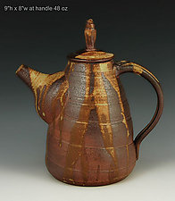 Wood Fired Stoneware Teapot #57 by Ron Mello (Ceramic Teapot)
