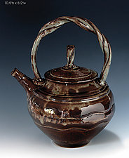 Stoneware Teapot #28 by Ron Mello (Ceramic Teapot)