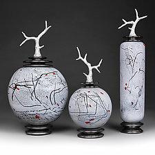 Zimska Jabuka by Eric Bladholm (Art Glass Vessel)