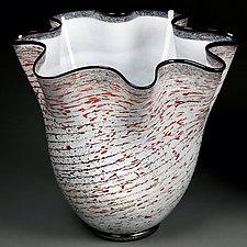 Zymova Vyshnya (Winter Cherries) by Eric Bladholm (Art Glass Bowl)