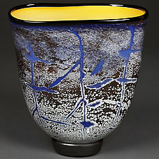 Cobalt Crackle by Eric Bladholm (Art Glass Vessel)