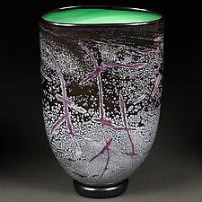 Evening Emerald by Eric Bladholm (Art Glass Vessel)