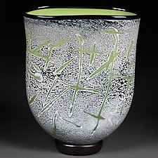 Powerful Pistachio by Eric Bladholm (Art Glass Vase)