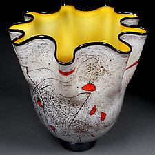 Zimniye Yabloki Zolota (Winter's Golden Apples) by Eric Bladholm (Art Glass Vase)