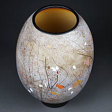Hazy Hazel by Eric Bladholm (Art Glass Vessel)