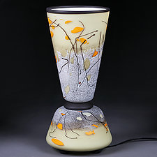 Autumn Almond by Eric Bladholm (Art Glass Table Lamp)