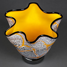 Fissure Vessel, Solar by Eric Bladholm (Art Glass Vessel)