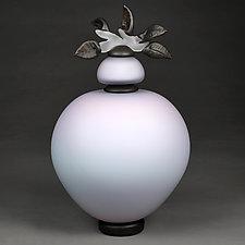 Novi Zivot (New Life) Satin Iris Large Sphere by Eric Bladholm (Art Glass Vessel)