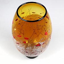 Hibiscus Honey by Eric Bladholm (Art Glass Vase)