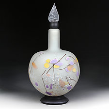 Persian Parchment Sphere Decorative Bottle by Eric Bladholm (Art Glass Bottle)