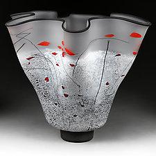 Zimska Jabuka Jasan (Winter Apples Clear) Large Bowl by Eric Bladholm (Art Glass Vessel)
