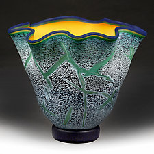 Luminous Leaf Studio Sample by Eric Bladholm (Art Glass Vase)