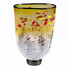 Amber Assent Studio Sample by Eric Bladholm (Art Glass Vase)