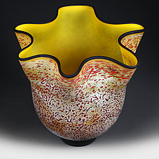 Vishnya Tsvetu (Cherry Blossoms) Studio Prototype Vase by Eric Bladholm (Art Glass Vase)