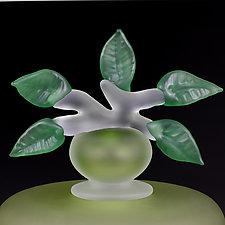 Novi Zivot (New Life) Satin Chartreuse (Experimental Color Prototype) by Eric Bladholm (Art Glass Vessel)