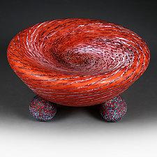 Zymovyy Urozhay (Winter Harvest)  Prototype Deep-Dish Bowl by Eric Bladholm (Art Glass Bowl)