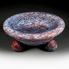 Universal Utopia (Studio Sample) Deep-Dish Bowl by Eric Bladholm (Art Glass Bowl)