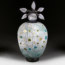 Mozayichni Polya (Mosaic Fields) by Eric Bladholm (Art Glass Vessel)