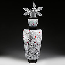 Zyma Vartovyy (Winter Sentinel) Frost by Eric Bladholm (Art Glass Vessel)