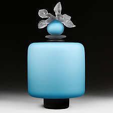Novi Zivot Luksuz (New Life Deluxe) Adriatic Satin Large Cylinder by Eric Bladholm (Art Glass Vessel)