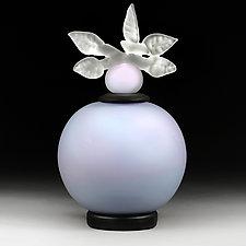 Novi Zivot Mali (New Life Petite) Shimmering Violet Satin Sphere by Eric Bladholm (Art Glass Vessel)