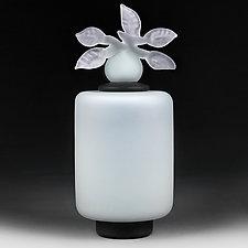 Novi Zivot Mali (New Life Petite) Celadon Satin Tall Cylinder by Eric Bladholm (Art Glass Vessel)