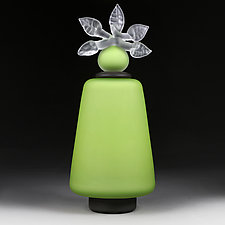 Novi Zivot (New Life) Apple Satin Tall Tower by Eric Bladholm (Art Glass Vessel)