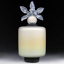 Novi Zivot Mali (New Life Petite) Golden Straw Satin Cylinder by Eric Bladholm (Art Glass Vessel)