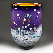Violet Vista by Eric Bladholm (Art Glass Vessel)