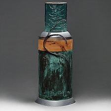 Grana Mali Bakar Sculptural Vessel by Eric Bladholm (Glass Vases and Vessels)