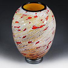 Litnya Vyshnya II(Summer Cherries II) Experimental Color Study by Eric Bladholm (Art Glass Vase)
