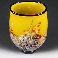 Savory Sunburst Flat-sided VasePrototype by Eric Bladholm (Art Glass Vase)