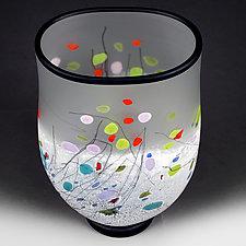 Modern Medley Flat-sided Vase (Experimental Sample) by Eric Bladholm (Art Glass Vase)