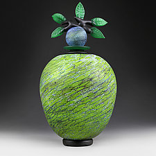 Earthly Elevation (Experimental Studio Sample) by Eric Bladholm (Art Glass Vessel)