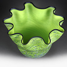 Chartreuse Cascade (Studio Sample) by Eric Bladholm (Art Glass Vase)