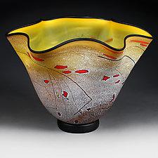 Meadow Maize (Studio Prototype) by Eric Bladholm (Art Glass Vase)