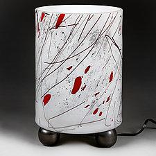 Zimska Jabuka (Winter Apple) Lamp (Studio Prototype) Lamp Prototype III by Eric Bladholm (Art Glass Table Lamp)