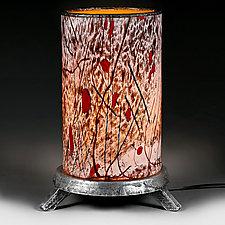 Zimska Zolotny (Winter Gold) Lamp (Studio Prototype) by Eric Bladholm (Art Glass Table Lamp)