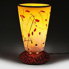 Solar Salvo Experimental Lamp Prototype by Eric Bladholm (Art Glass Table Lamp)