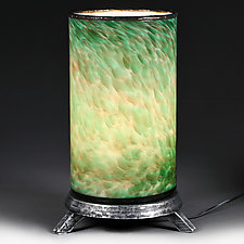 Zeleny Zolotny (Green Gold) Lamp (Studio Prototype) by Eric Bladholm (Art Glass Table Lamp)