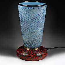 Polar Prussian (Experimental Lamp Prototype) by Eric Bladholm (Art Glass Table Lamp)