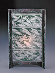 Japanese Fish by Joan Bazaz (Glass & Copper Lamp)
