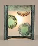 Blue Burst by Joan Bazaz (Glass & Copper Table Lamp)